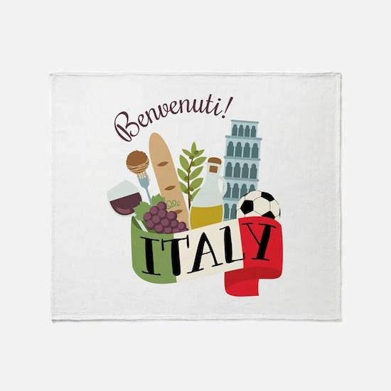 Benvenuti! Italy Throw Blanket
