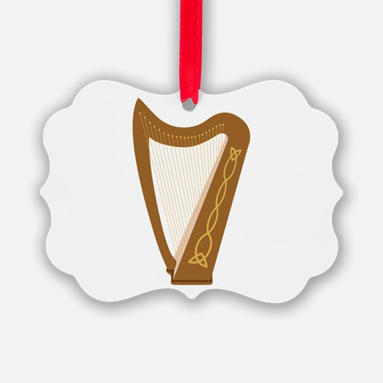 Celtic Harp Ornament
