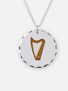 Celtic Harp Necklace