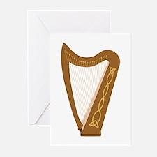 Celtic Harp Greeting Cards