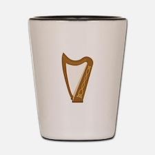 Celtic Harp Shot Glass
