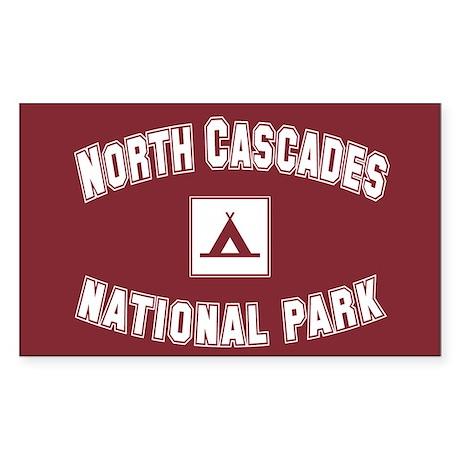 North Cascades National Park Rectangle Sticker