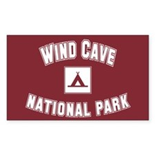 Wind Cave National Park Rectangle Decal