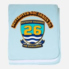 Destroyer Squadron 26 - With Text baby blanket