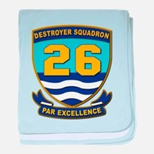 Destroyer Squadron 26 - withOut Text baby blanket