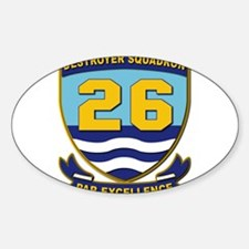Destroyer Squadron 26 - withOut Tex Sticker (Oval)
