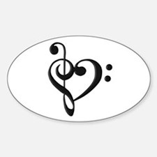 Music Clef Heart Decal