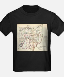 Vintage Map of Ohio (1866) T-Shirt