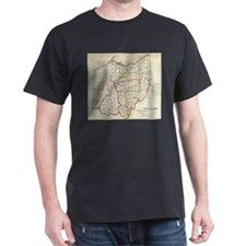 Vintage Map of Ohio (1866) T-Shirt