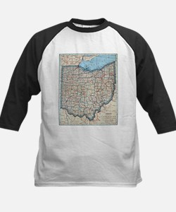 Vintage Map of Ohio (1921) Baseball Jersey