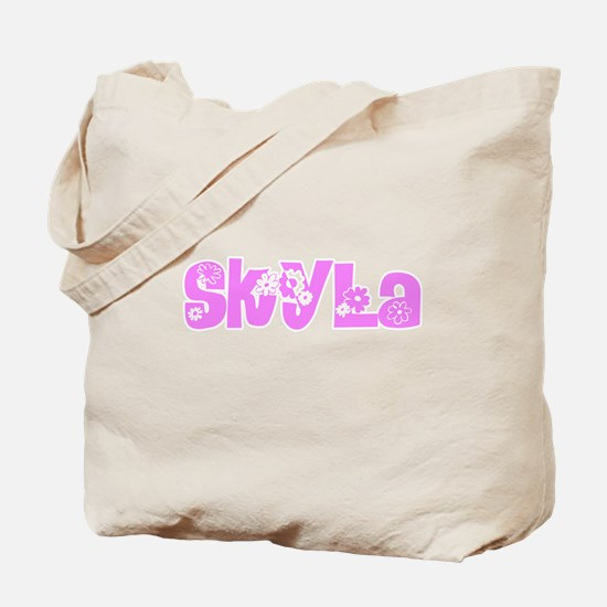 Skyla Flower Design Tote Bag