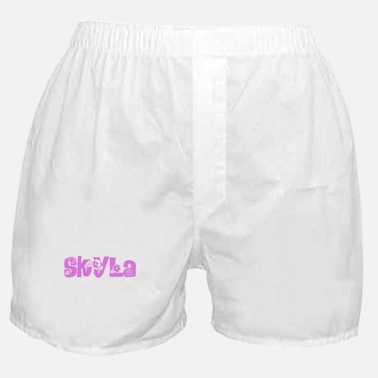 Skyla Flower Design Boxer Shorts