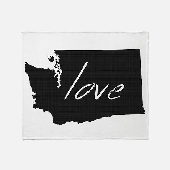 Love Washington Throw Blanket
