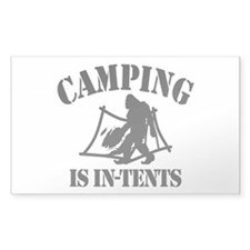 Camping Is In Tents Decal