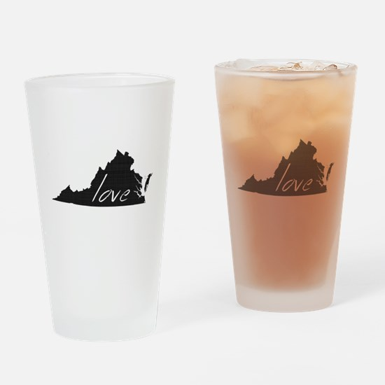 Love Virginia Drinking Glass