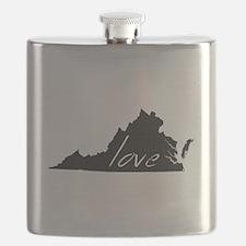 Love Virginia Flask