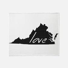 Love Virginia Throw Blanket