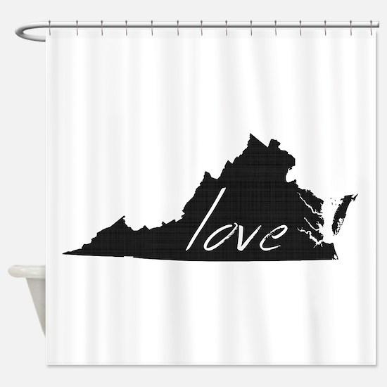 Love Virginia Shower Curtain