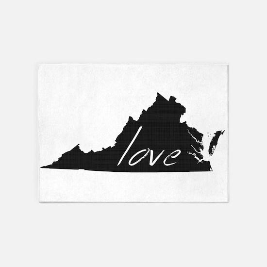 Love Virginia 5'x7'Area Rug