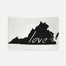 Love Virginia Rectangle Magnet