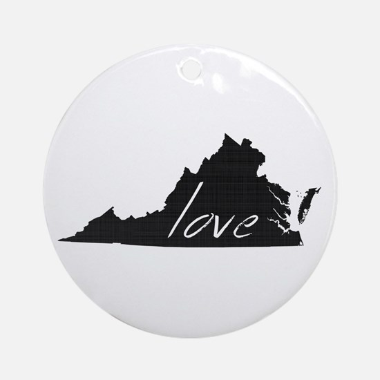 Love Virginia Ornament (Round)