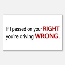 Driving wrong Decal