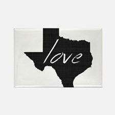 Love Texas Rectangle Magnet