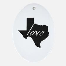 Love Texas Ornament (Oval)