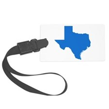 Bright Blue Texas Outline Luggage Tag