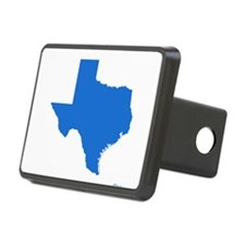 Bright Blue Texas Outline Hitch Cover