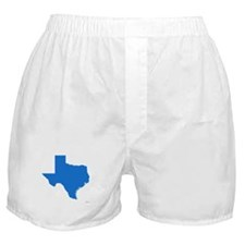 Bright Blue Texas Outline Boxer Shorts