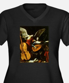 Saint Cecilia and the Angel by S Plus Size T-Shirt