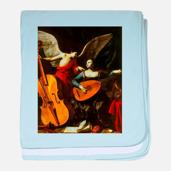Saint Cecilia and the Angel by Sarace baby blanket