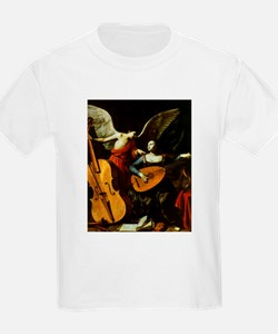 Saint Cecilia and the Angel by Saraceni T-Shirt