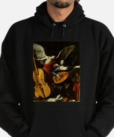Saint Cecilia and the Angel by Sarac Hoodie (dark)