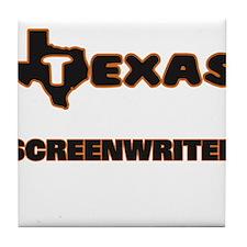 Texas Screenwriter Tile Coaster