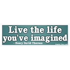 Life You've Imagined Bumper Bumper Sticker