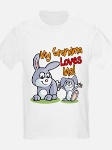 My Grandma Loves Me Bunny T-Shirt