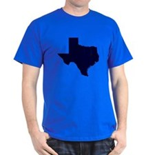 Navy Blue Texas Outline T-Shirt