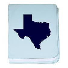 Navy Blue Texas Outline baby blanket
