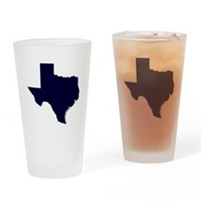 Navy Blue Texas Outline Drinking Glass