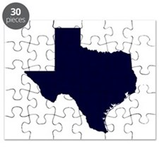 Navy Blue Texas Outline Puzzle