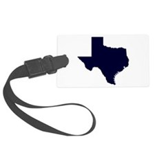 Navy Blue Texas Outline Luggage Tag