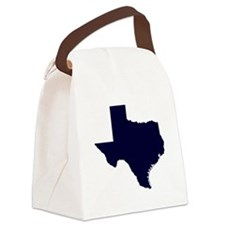 Navy Blue Texas Outline Canvas Lunch Bag