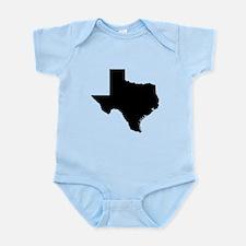 Black Texas Outline Infant Bodysuit