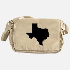 Black Texas Outline Messenger Bag
