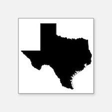 """Black Texas Outline Square Sticker 3"""" x 3"""""""
