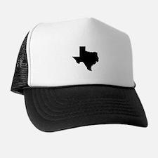 Black Texas Outline Trucker Hat