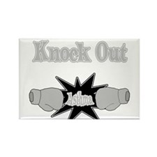 Knock Out Asthma gray.png Rectangle Magnet
