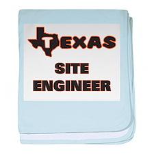 Texas Site Engineer baby blanket